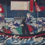 大坂城を出て八軒家浜から脱出した慶喜。